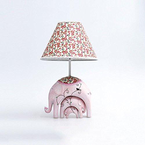 DGEG Lámpara de Mesa Creative Pastoral Warm Princess Luz cálida Ajustable Elephant...