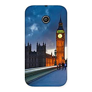 Cute London City Multicolor Back Case Cover for Moto E
