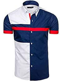 BOLF – Chemise casual – avec manches courtes – BY MIRZAD 6504 – Homme