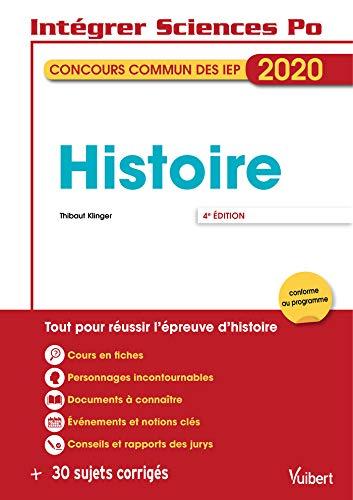 Concours commun des IEP - Histoire - Tout pour réussir - 2020