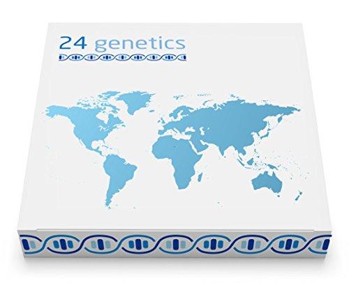 24Genetics - DNA-Ancestry-Testkit - 400 Regionen weltweit - Gentests - Beinhaltet das Kit für die Abstrichentnahme zu Hause