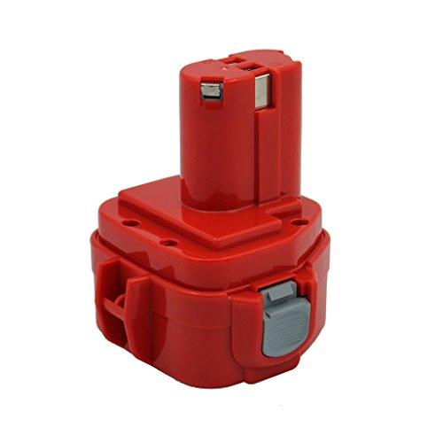 Kinon Ersatz-Elektrowerkzeug Batterie 12V 2.0Ah für Makita Akku-Bohrschrauber 1220 1222 192598-2 192681-5 193981-6 638347-8 638347-8-2 PA12 6271DWE 6319D