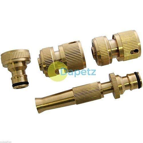 daptez® 4pièces en laiton Tuyau pour tuyau de jardin robinet robinet et tuyau d'arrosage rapide Connecteurs Embout Spray