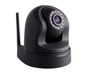 Foscam FI9826W IP-Kamera Überwachungskamera (3-fach Zoom, 1,3 Megapixel, 13 LEDs, P/T Bewegungserkennung, Reicheweite: 8m Surveillance) schwarz
