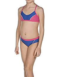 Arena Sporty 1 - Bikini deportivo para jóvenes Azul Royal/Fresia Rose/White Talla:8 años (128 cm)