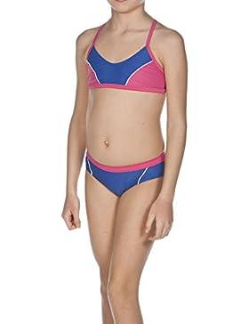 Arena Bikini da ragazza Sporty 1, Bambina, Bustier Bikini Sporty 1, Royal/Fresia Rose/White, 152