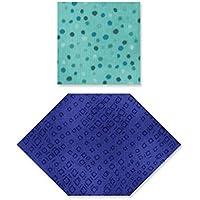 Sizzix a nido d' ape e quadrati Bigz, in plastica ABS, Multicolore