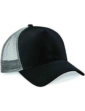 Beechfield Snapback del camionero - Black/ Light Grey