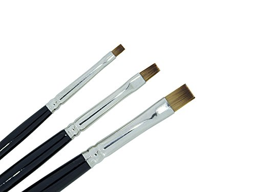 3-teilig Nailart ONE STROKE PINSEL-SET Feinhaar - nd24 BESTSELLER - SPAR-PACK - Nailart Mal-Farben Nageldesign Naildesign -