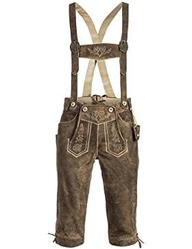 Michaelax-Fashion-Trade Marjo - Herren Lederhose, Seppl inkl.Träger (838500-010007)