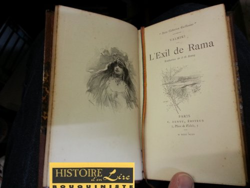 L'exil de Rama Traduction de JH Rosny nbses illustrations Petite collection Guillaume E Dentu Editeur 1893
