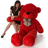 ToyHub Extra Large Very Soft 5 Feet Lovable/Huggable Teddy Bear With Neck Bow For Girlfriend/Birthday Gift/Boy/Girl (152 CM,Red)