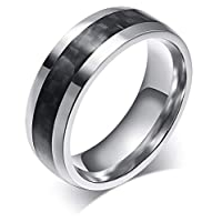 Ring For Men By Bluna, Silver And Black, Size 10, R023