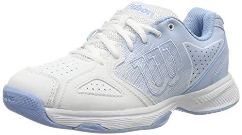 Wilson Kaos Stroke Women, Scarpe da Tennis Donna, Bianco (White/Cashmere Placid Blue), 37 2/3 EU