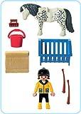 Pony 3119 and Playmobil farmer girl (japan import)