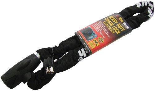 Am-Tech Chaîne antivol résistante à gaine en nylon avec 2 clés