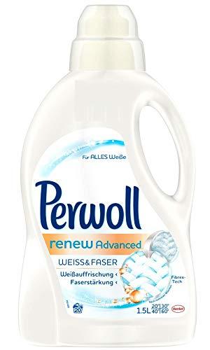 Perwoll Weiss & Faser renew Advanced, 4er Pack (4 x 20 Waschladungen)