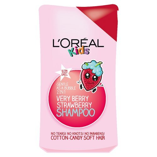 L'Oréal Kids Extra Gentle 2-in-1 Very Berry Strawberry Shampoo, 250 ml