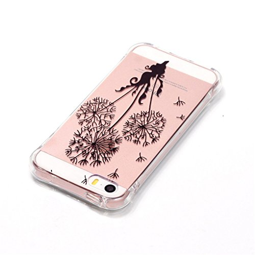 SE 5 5S Hülle, iPhone SE 5 5S Hülle, SATURCASE Schönes Muster Bronzen Ultra Dünn Weich TPU Gel Silikon Schützend Zurück Case Cover Handy Tasche Schutzhülle Handyhülle Hülle für Apple iPhone SE 5 5S (M Muster-9