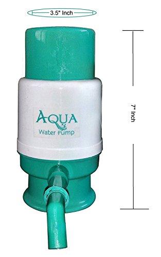 Aqua Manual Hand Press Water Dispenser Pump For 20 Litre Bottles (Threaded bottles & Non threaded bottles)  available at amazon for Rs.180