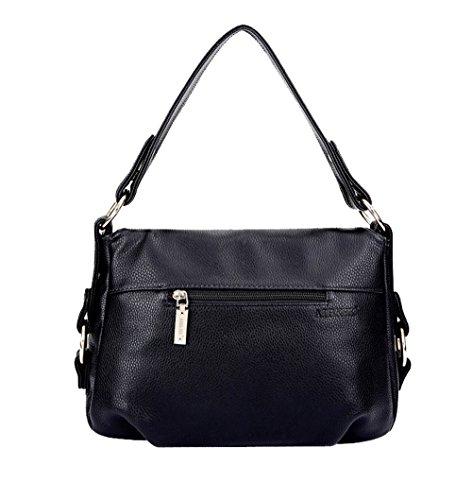 Tibes atmosphärische stilvolle Frauen Mädchen Damen Handtasche Tasche Crossbody Geldbörse Schultertasche Blau