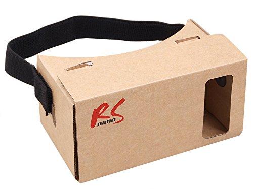 "NanoRS RS500 – 3D Brille Google Cardboard für Smartphone 4\""–5,5\"" Virtual Reality Brille Googles Headset"