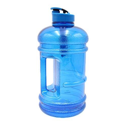 Leiyini Water Jug 2.2 Liter Wasser Flasche Sport-Wasserflasche Fitness Trinkflasche mit Griff für Fitnessstudio, Reise, Sport (Sport-flasche Mit Griff)