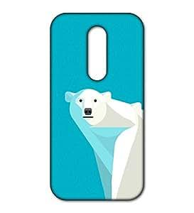 Happoz bear hope design Motorola Moto M back case Mobile Phone Back Panel Printed Fancy Pouches Accessories Z554