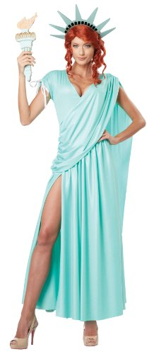 Womens Lady Liberty Kostüm - Womens Lady Liberty Fancy dress costume Small
