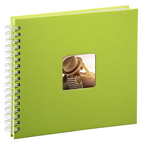 hama-fotoalbum-28-x-24-cm-50-weisse-seiten-25-blatt-mit-ausschnitt-fur-bildeinschub-fotobuch-kiwi