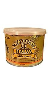 Greek Macedonian Halva with Honey Net Weight 500gr Tin can.