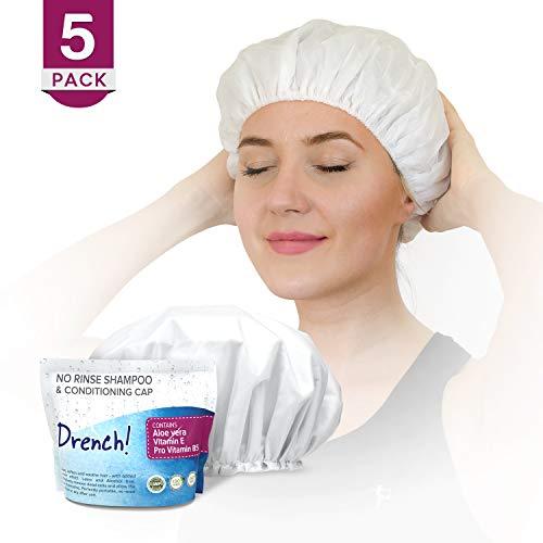 Trockenshampoo für Damen mit Kappe (5er Pack) - Luxuriöse Haarpflege ohne Auswaschen, ohne Rückstände