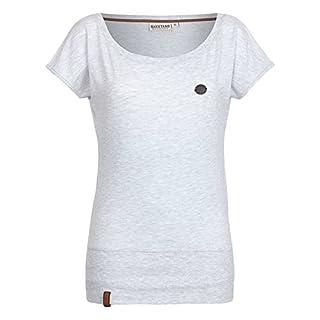 Naketano Damen T-Shirt Wolle T-Shirt, Medium, amazing grey melange
