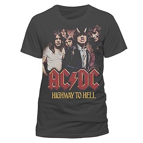 AC/DC Highway to Hell Logo T-Shirt Offizielles Lizenzprodukt|M