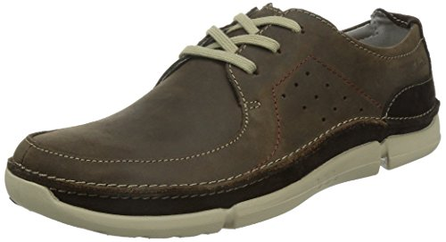 Clarks Trikeyon Fly, Derby homme Marron (Brown Leather)