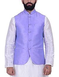 Kisah Mauve Dupion Silk Men's Waistcoat