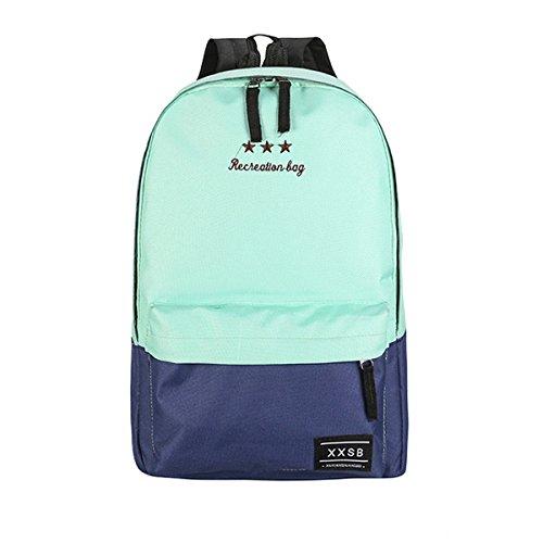 Flada Fashion Canvas Buch Taschen für Mädchen Casual Rucksacks Schule Rucksäcke für Teenager Grün