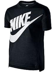 Nike Signal Gfx Top Yth Camiseta, Niñas, Negro (Black/White), M