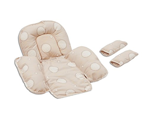 Clevamama Foam Car Seat Support with 2 Strap Covers (Cream) 41tYEvQ4pkL
