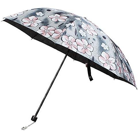 Patrón de viaje de la flor al aire libre Paraguas plegable elástico 32 pulgadas de diámetro