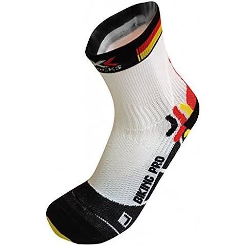 X-Socks, Calzini da ciclismo Pro Patriot Unisex adulto, Multicolore (Germany), XL
