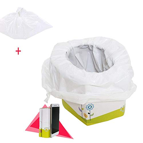 Househome - Vasino di emergenza per bambini, pieghevole, portatile, igienico, istantaneo, con 5 sacchetti, per campeggio/viaggi/escursioni/auto