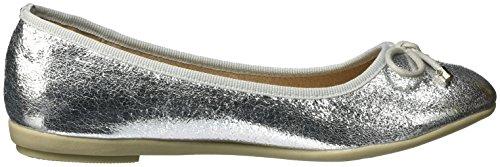 XTI Silver Metallic Ladies Shoes, Ballerine Donna Argento (Silver)