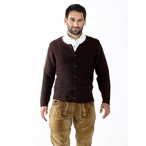 ALMBOCK Herren Strickjacke | Cardigan für Männer in dunkel-braun | Trachten Strickjacke | Größen S, M, L, XL, XXL, XXXL - 4