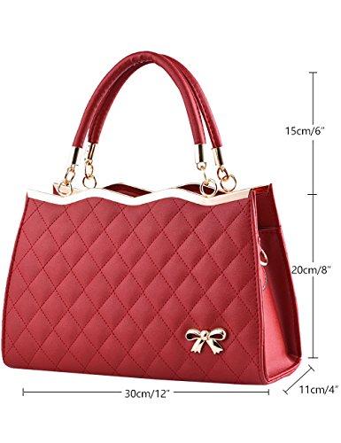 Menschwear Damen Handtasche Marken Handtaschen Elegant Taschen Shopper Reissverschluss Frauen Handtaschen Lila Rot-wien