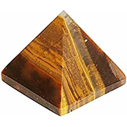 eshoppee tiger eye stone pyramid approx30 gm, for remove depression and bring positive energy