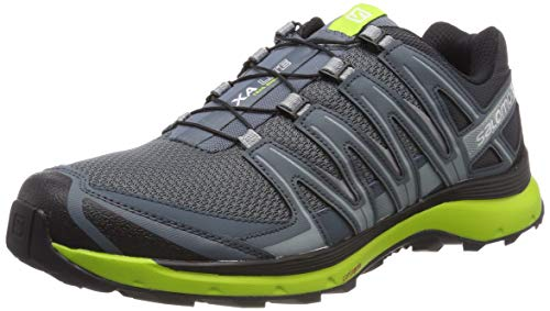 Salomon XA Lite, Scarpe da Trail Running Uomo, Grigio (Stormy Weather/Black/Lime Green), 48 EU