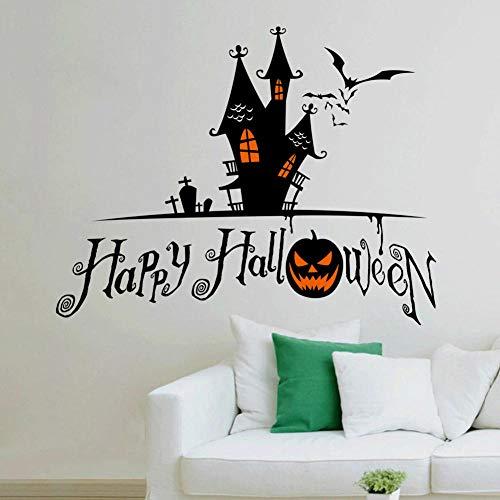 Dekoration PVC Umweltschutz Halloween Thema Kunst Wandaufkleber Wohnzimmer Schlafzimmer Dekoration Aufkleber Größe 42x76cm