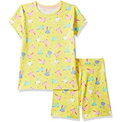 Mothercare Girl's Yellow Bunny Shortie Pyjamas Sets, 71, 2-3 Years (Size:98CM)