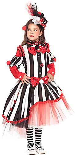 arneval Circus Girl fuumlr KARNAVALKOSTUumlME Fancy Dress Halloween Cosplay Veneziano Party 28049 Size 8/M ()